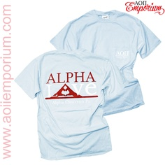 AOII Emporium Custom Chapter Order!! Alpha Omicron PI Alpha Love Shirt!!