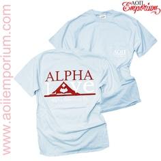 AOII Emporium Custom Chapter Order!! Alpha Omicron PI Alpha Love Shirt!!