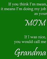 mom vs. grandma