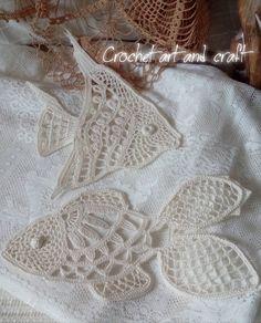 Freeform Crochet, Crochet Art, Crochet Diagram, Thread Crochet, Filet Crochet, Irish Crochet, Crochet Motif, Crochet Stitches, Crochet Fish Patterns
