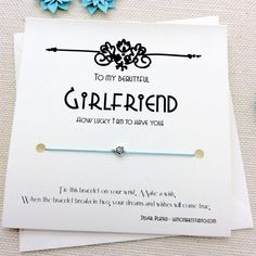 Girlfriend Gift For Girlfriend Valentines Day Gift For Her Birthday Gift Anniversary Cute Gifts For Girlfriend, Gifts For Mom, Boyfriend Girlfriend, Wish Bracelets, Beaded Bracelets, Home Gifts, Diy Gifts, Christmas Fun, Valentine Gifts