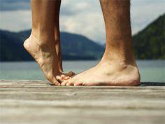feet touching