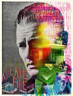 Heath - looking through head to finishing line - poster - Arcade Fire 2010 by cdubya1971, via Flickr