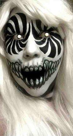 Scary Clown Makeup on Pinterest