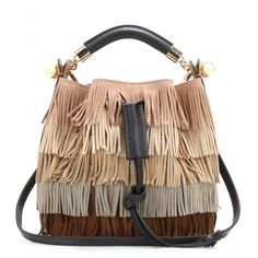 Chloé - Gala Small fringed suede shoulder bag - mytheresa.com