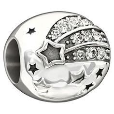 Chamilia Sterling Silver 'Reach For The Stars' Crystal Bead - Product number 1765957