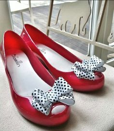 Daily Shoes OTD: Red jelly platform heels from Hong Kong. Love! Soft and comfortable