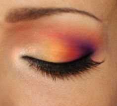 Sunset eyeshadow #vibrant #bright #bold #eye #makeup #eyes