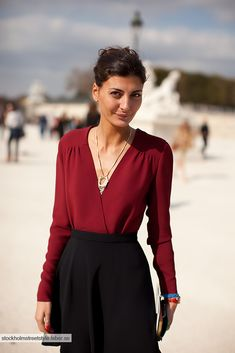 necklace with blouse