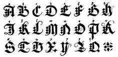 Come scrivere lettere gotiche - Disegni ed esempi
