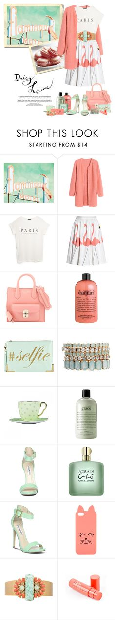 """Flamingo Motel"" by bellamorte-113 ❤ liked on Polyvore featuring Chicnova Fashion, MANGO, Alice + Olivia, Balenciaga, ALDO, Johnny Loves Rosie, Wedgwood, philosophy, Steve Madden and GAB"