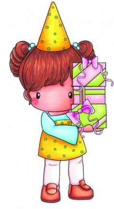 C.C. Designs - Cling Mounted Rubber Stamp - Swiss Pixie Birthday Lucy,$6.99