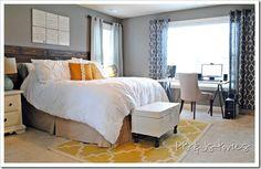 Beautiful Grey and Yellow bedroom