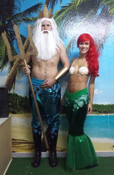 Selbstgemachtes Kostüm: Arielle und Triton alias Patrick und Jessica