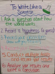 How to write like a scientist
