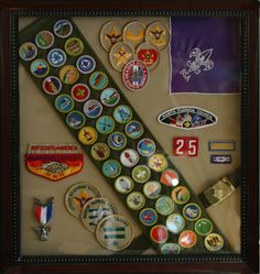 boy scout shadow box keepsake idea
