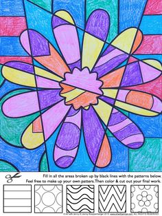 Easy and fun art integration lesson for Spring--interactive coloing sheets. Kids love to color and these sheets will really challenge them! From Art with Jenny K.