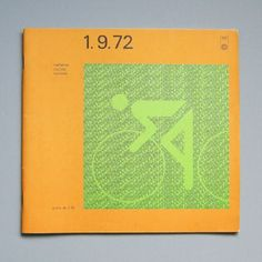 Otl Aicher 1972 Munich Olympics Programme