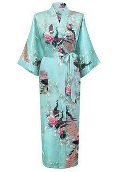 Brand New Long Robe Satin Rayon Bathrobe Nightgown For Women Kimono Sleepwear Flower Plus Size S-XXXL S02D
