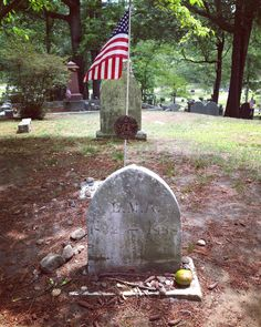 While in Concord I also visited Author's Ridge in the Sleepy Hollow Cemetery. Louisa receives a flag each year designating her as a veteran for her service as a nurse during the Civil War. #LMABibliography