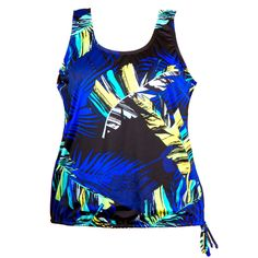 ce15175cef832 Wear Your Own Bra Plus Size Swimwear Top - Painted Palms Women s Swimsuits    Cover Ups