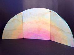 Reversible Nature Table backdrop. christmas waldorf steiner