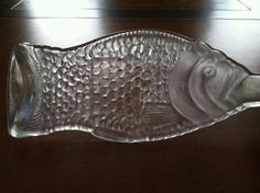 Recycled wine bottle Fish serving tray by ChristinasCre8tions