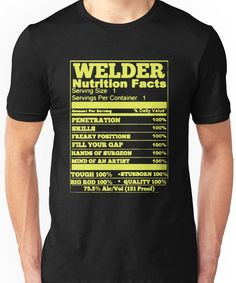 af85fac9 WELDER NUTRITION FACTS Unisex T-Shirt People Born In October, Ezekiel 25,  August