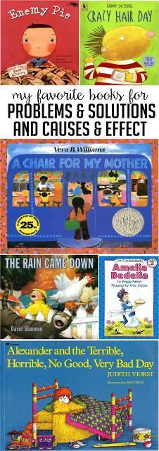 These books are some of my favorite read aloud texts and lessons for teaching problem and solution and cause and effect. Head on over to the post for some ideas on how to use each book!