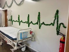 Hospital Christmas decorating...