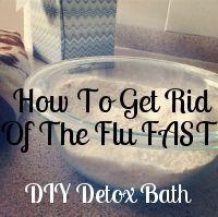Detox bath for sickness: Epsom salt, baking soda, and ground ginger.