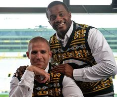 Jordy Nelson and Randall Cobb in Packers sweaters!