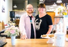 Kevin and Lisa Malcom are the owners of Frite & Scoop in Astoria; Kevin experiments with flavors while pastry-school-trained Lisa makes all the curds, toffees, caramels and candies that go into the ice cream.