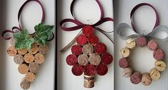 Cork Christmas Decorations  http://www.homedit.com/5-ways-of-turning-wine-corks-into-unique-christmas-decorations/