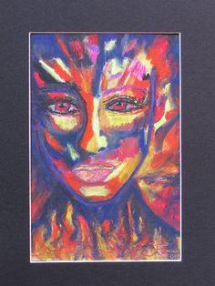 in Flammen - Zeichnung -  MW Art Marion Waschk