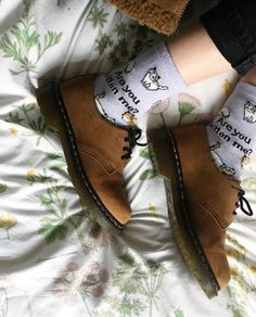DOC'S & SOCKS: The 1461 shoe in Soft Buck leather, shared by chain.ofdaisies.