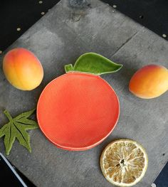 Excited to share the latest addition to my #etsy shop: Ceramic Orange Dish, Foodie Gift, Fruit  Plate, Vegan Gift, Orange Kitchen Decor, Fruit Pottery Decoration, Gardening Gift, Spoon Rest