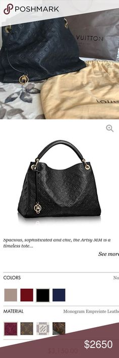 Artsy MM Louis Vuitton In a very good condition, super spacious and beautiful! Louis Vuitton Bags Shoulder Bags