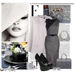 Grey and black by nikol128 on Polyvore featuring moda, Sportmax, Marni, Yves Saint Laurent, DANNIJO, Friis & Company, Blue Nile and Nicki Minaj