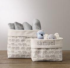 Gray Canvas Storage Play Spaces Nursery Storage