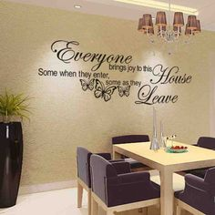 Decals, Stickers & Vinyl Art Removable Butterfly Art Vinyl Quote Decal Mural Room Decor Home Wall Sticker & Garden Living Room Quotes, Diy Living Room Decor, Room Wall Decor, Living Room Art, Interior Design Living Room, Living Room Designs, Home Decor, Bedroom Wall, Kids Bedroom