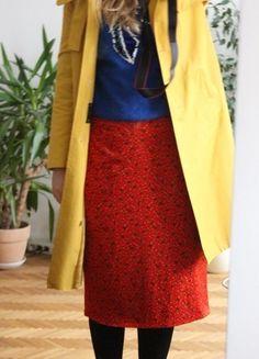 Kaufe meinen Artikel bei #Kleiderkreisel http://www.kleiderkreisel.de/damenmode/lange-rocke/116534022-selbstgenahter-roter-rock-tannen-punkte-hand-made