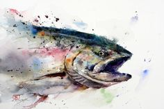 Oregon-based artist Dean Crouser, a lifelong artist that specializes in the watercolor medium, creates these fantastic watercolor paintings of animals. Description from 4rtgallery.blogspot.com. I searched for this on bing.com/images