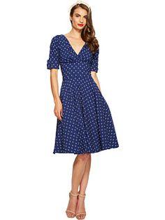 Unique Vintage Stretch Novelty Delores Dress