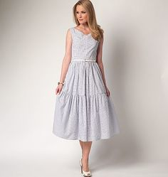 Has a princess line, so could be easily converted to nursing dress.