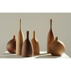 Channels' wooden 'Three Wise Men' bottles by Samuel Chan are this month's Decorative Objects, Decorative Accessories, Design Japonais, London Design Week, Wood Vase, Art Decor, Decoration, Mid Century Decor, House And Home Magazine