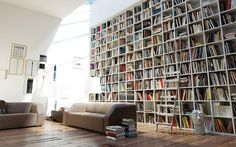 A wall of books.