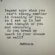 In your dreams ~JmStorm