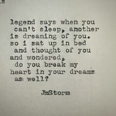 In your dreams ~JmStorm