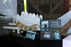 Rustic Baby Shower gift table
